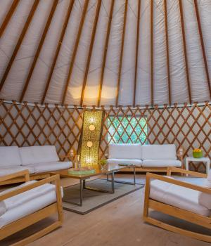 Inside the Big Yurt
